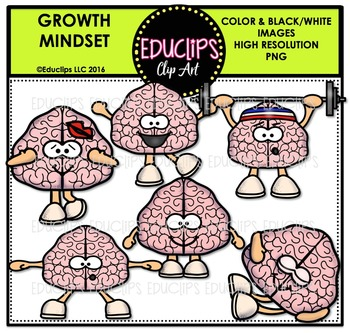 Brain Power Clip Art Bundle {Educlips Clipart}