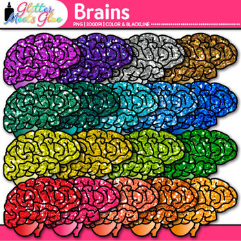 Brain Clip Art {Growth Mindset, Breaks, Teasers, Games, Logic Puzzles Use}
