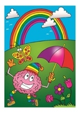 Brains Love Colours Poster