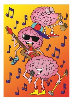 Brains Love Music Poster
