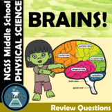 Brains Parts and Functions  Boom Cards™  Digital Task Card