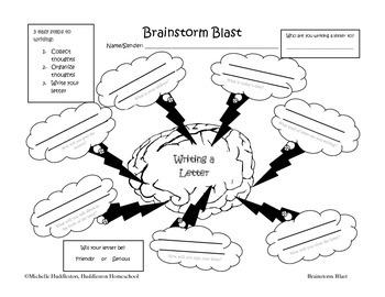 Brainstorm Blast - Writing a Letter