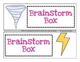 Brainstorm Box Center- FREEBIE