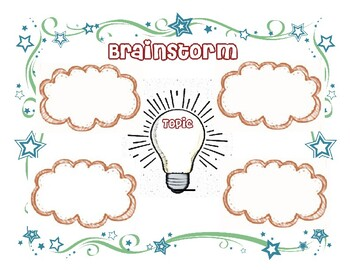 Brainstorm Graphic Organizer  (Red)