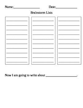Brainstorm Lists