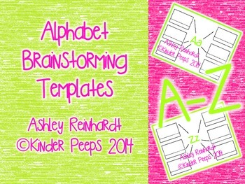 Beginning Sounds Brainstorming Templates (Templates for Letters A-Z)