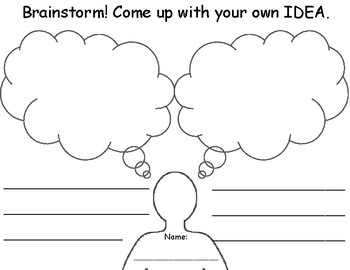 Brainstorming Bubbles *Differentiated*
