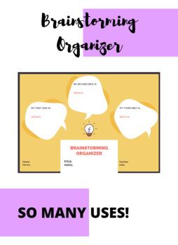Brainstorming Graphic Organizer