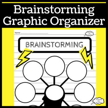 Brainstorming Graphic Organizer for Reading or Writing