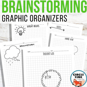 Graphic Organizers Brainstorming Sheets ELA Doodle Notes Language Arts