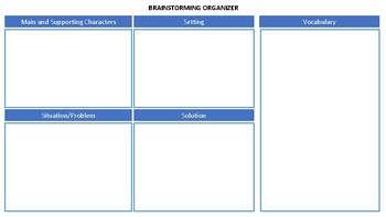 Brainstorming Organizer