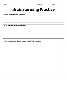 Brainstorming Packet