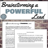 Brainstorming Powerful Leads