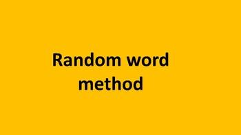 Brainstorming - Random word method