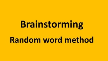 Brainstorming - Random word method