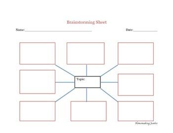 Brainstorming Sheet