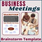 Business Meetings Brain Storm Template