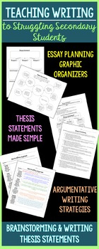 Brainstorming & Thesis Statements (for Struggling Secondary Students)