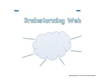 Brainstorming Web Graphic Organizer