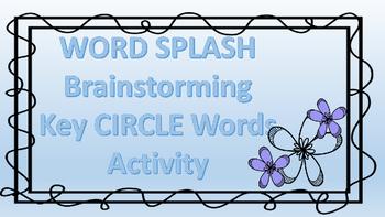 Brainstorming- Word Splash Circle Words