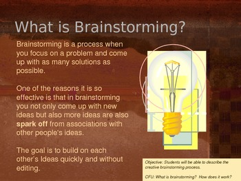 Brainstorming and Generating Ideas PPT
