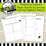 Brainstorming and Sketches Worksheet Packet for Claes Olde