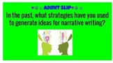 """Brainstorming for a Personal Narrative: """"Special People"""" Memories"""