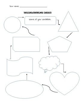Brainstorming sheet graphic organizer (political candidate)