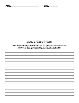 Brainstorming - staar writing prompt break down
