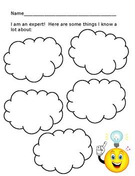 Brainstorming template by Mandi Olson | Teachers Pay Teachers