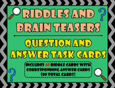 Riddles and Brainteasers Task Cards