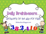 Problems of the Day for Math {Quick Brainteasers}