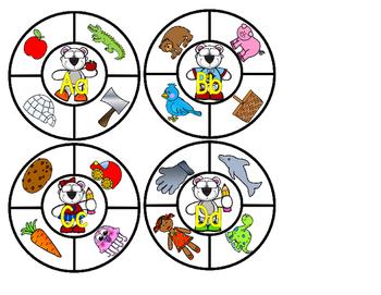 Brainy Bear Beginning Sounds Clip Cards Phonics Phonemic Awareness