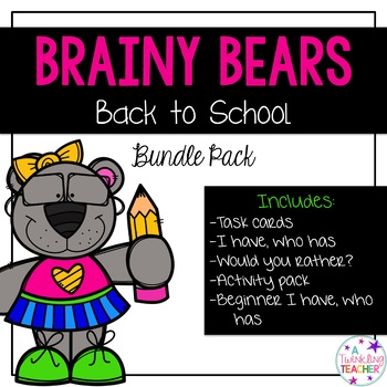 Brainy Bears Back to School Pack