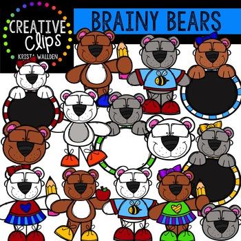 Brainy Bears {Creative Clips Digital Clipart}