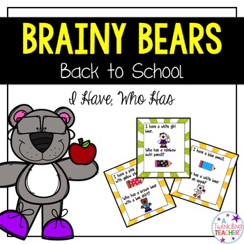 Brainy Bears I have Who has Card Game!