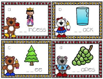 Brainy Bears R-Blend Task Cards