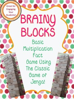Brainy Blocks Using Jenga- Basic Multiplication Facts!
