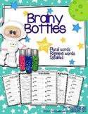 Brainy Bottles K-1st - ELA Word Search {Plural words, rhym