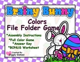 Brainy Bunny Colors File Folder Game