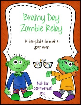 Brainy Day Zombie Relay template - Personal Use Only!