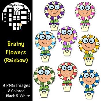 Brainy Flowers Clip Art