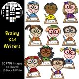 Brainy Kid Writers Clip Art