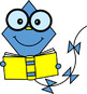 Brainy Kites with a Book Clip Art