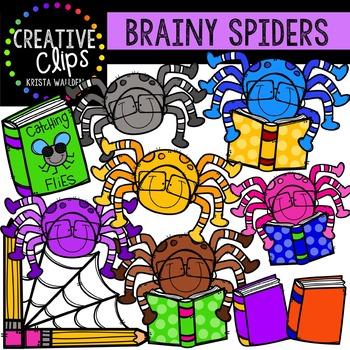 Brainy Spiders {Creative Clips Digital Clipart}