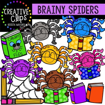 Brainy Spiders {Creative Clips Digital Clipart}