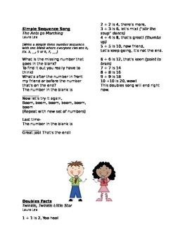 Brainy Zany Math Songs for Kindergarten, First Grade, and Second Grade