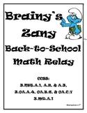 Brainy's Zany Back-to-School Math Relay