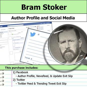 Bram Stoker - Author Study - Profile and Social Media