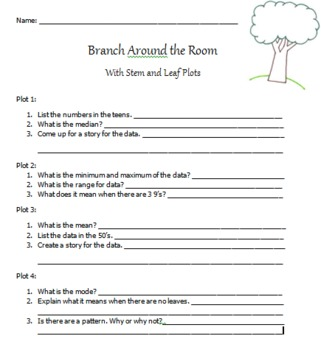 Branch Around the Room with Stem and Leaf Plots